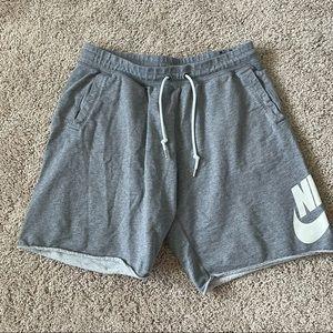 Nike Sweatshorts Size XL Mens Gray Orange Tab